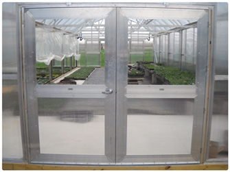 Double Hung Doors with Plexiglass Panels & Double Hung Doors - Plexiglass Panels | Rimol Greenhouses
