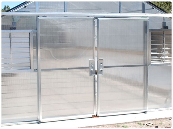 Double Sliding Doors greenhouse doors: roll up doors, sliding doors & hinged doors
