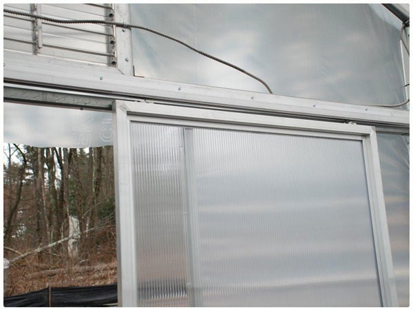 View ... & Single Sliding Door - Polycarbonate Panel | Rimol Greenhouses Pezcame.Com